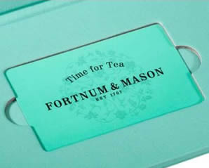 Fortnum and Mason Afternoon Tea Vouchers