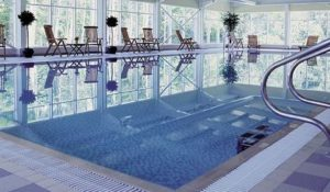The relaxing pool at MacDonald's Crutherland House Hotel, Cumbernauld, nr. Glasgow.