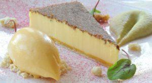 Orestone Manor Duck Egg Tart with Apple Puree and Cinnamon Ice Cream Recipe