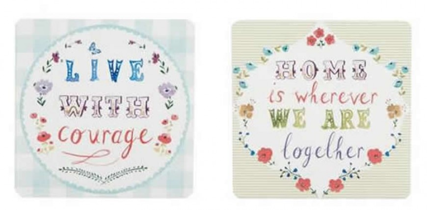 COMPETITION TIME:  Win these gorgeous, vintage inspired coasters.