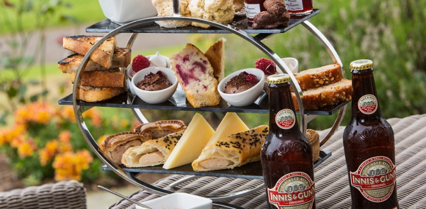 Gentleman's Afternoon Tea for Two at Dalmahoy Hotel, Edinburgh.