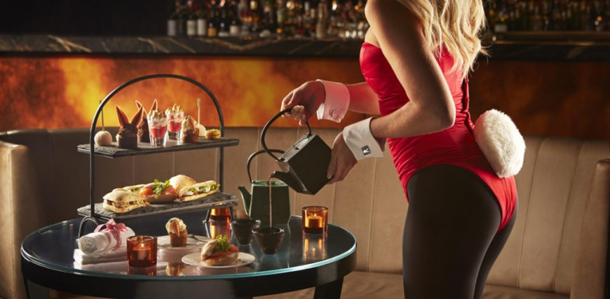 Afternoon Tea at the Playboy Club, Mayfair
