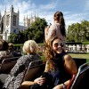 Vintage London Bus Tour and Champagne Cream Tea Cruise for Two