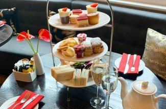 Afternoon Tea with Champagne at the Courthouse Hotel, London.