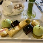 A beautiful selection of cakes and pastries served for afternoon tea at the Midland Hotel, Manchester