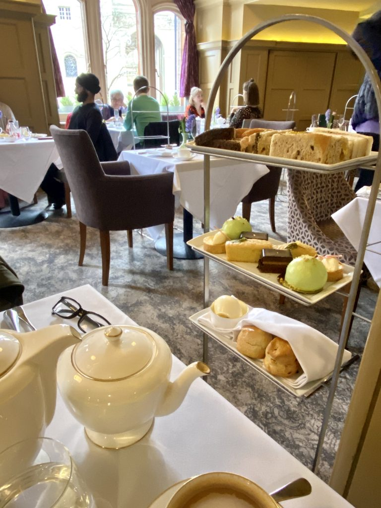Afternoon tea at the Midland Hotel, Manchester