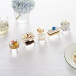 Art inspired delicate cakes for afternoon tea at the Rosewood Hotel, London.