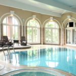 The beautiful pool at Moor Hall Hotel, West Midlands. Your venue for a Spa and Afternoon Tea.