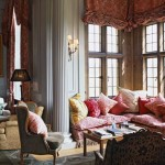 An elegent lounge area with beautiful sofas and cushions, the perfect venue for a relaxed and tradition Afternoon Tea at Stapleford Park Country House Hotel, The Midlands