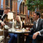 Afternoon tea at the St Pancras Rennaisance Hotel