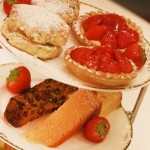 Scones and strawberry tarts make a traditional afternoon tea at Moor Hall Hotel in Sutton Coldfield, West Midlands