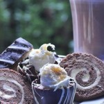 Chocolate roulade and chocolate sweet treats the ultimate choice for afternoon tea in the West Midlands at Moor Hall Hotel and Spa