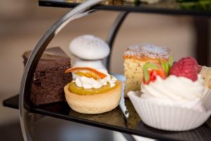Afternoon tea at Oakley Hall, Hampshire.