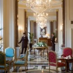 The stunning setting at the Bentley Hotel for afternoon tea in Kensington, Chelsea