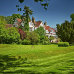The sweeping lawn at Rowhill Grange, Kent