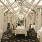 The beautiful venue for afternoon tea at the Grosvenor Hotel, Stratford Upon Avon, West Midlands