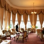 Afternoon tea at the Grand Hotel, Eastbourne in East Sussex.