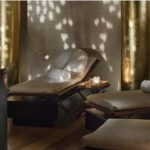 The rleaxing spa beds at the Rosewood London