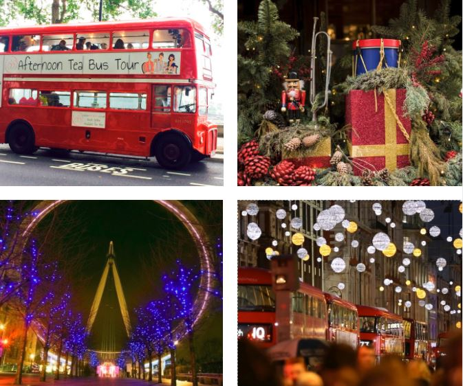 Afternoon Tea Bus Tour, London - Christmas 2017. Enjoy one of the best Christmas afternoon teas in London.