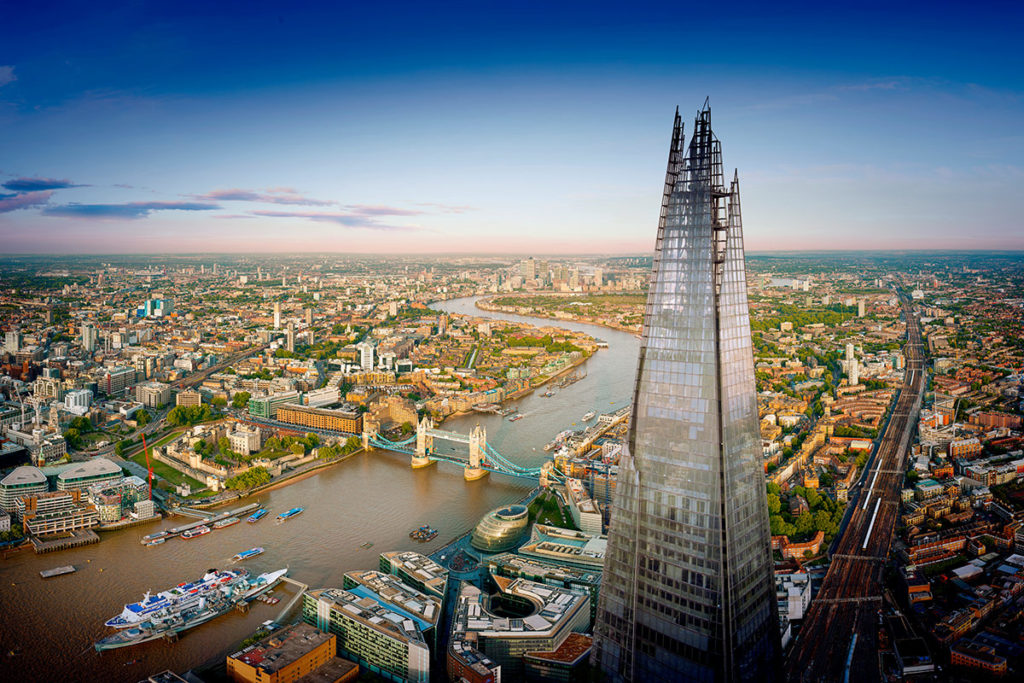 Enjoy the View from the Shard and Afternoon Tea, London.