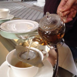 Ginger spiced tea at the Colonnades, Signet Library Edinburgh