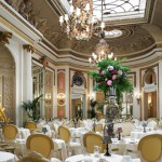 An exquisite view of the Palm Court set for afternoon tea at the Ritz, London.