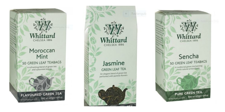 Green tea selection from Whittard of Chelsea