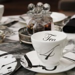 A stylish Mad Hatters Tea Party Cup for the Sanderson Hotel Afternoon Tea in London