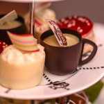 Cakes with a twist carefully created for Mad Hatters Afternoon Tea at the Sanderson Hotel, London