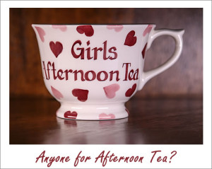 Girls Afternoon Tea cup handpainted by Emma Bridgewater