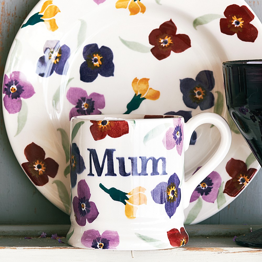 "Emma Bridgewater Wallflower ""Mum"" mug for Mother's Day gift."