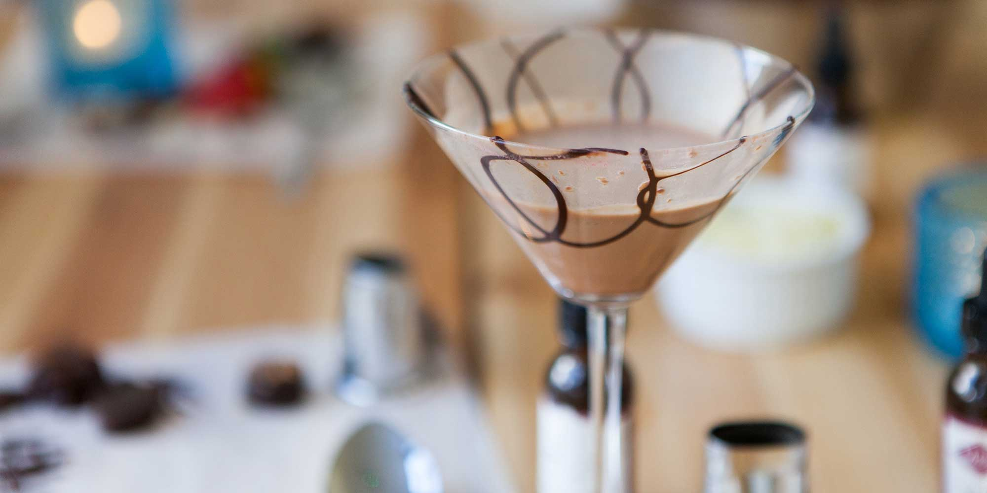 Create your own mouthwatering cocktail at a cocktail and chocolate workshop,London.