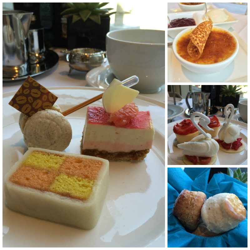 The sweet selection for afternoon tea at the Sheraton Hotel, Edinburgh