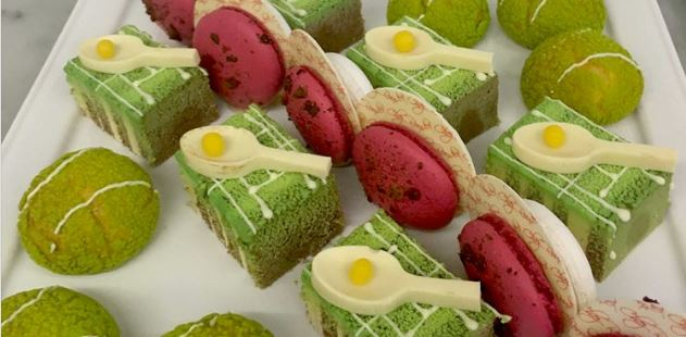 Cromlix Hotel Wimbledon themed afternoon tea, Perthshire
