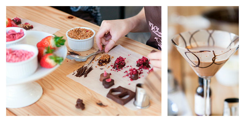 A chocolate and cocktail class, perfect gift for chocoholics