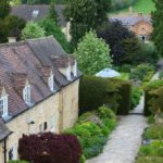 The lovely gardens for an alfresco afternoon tea at Cotswold House, Chipping Camden