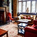 elegant and comfortable surrounds of Lewtrenchard Manor where afternoon tea is served in a beautiful part of Devon.