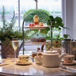 A beautiful platter of sweet treats for afternoon tea at Kew Gardens, London.