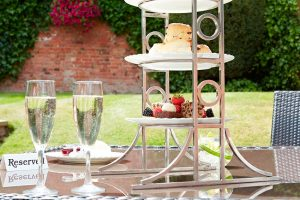 Enjoy an alfresco afternoon tea at The Belfry in warmer weather.