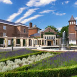 Exterior view of the beautiful gardens at the The Belfry in the West Midlands