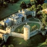 Aerial view of Warwick Castle, West Midlands
