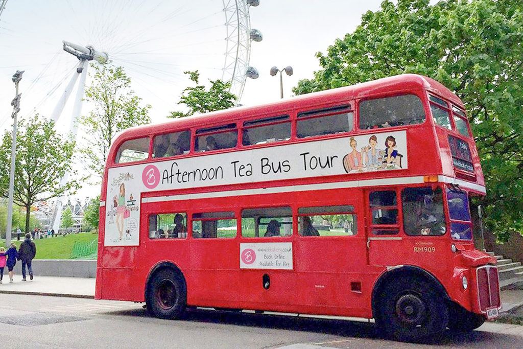 London Bus Tour with Afternoon Tea. Special offer. 25% discount code.