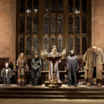 Dumbledore, Hagrid and other staff from Hogwart's School of Wizardry.