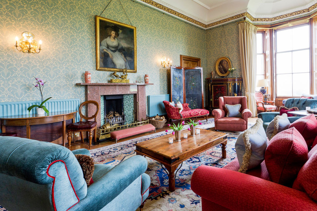 Afternoon Tea at Ackergill Tower is served in the elegant Drawing Room