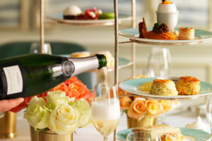 Champagne Afternoon Tea at fortnum and Mason, London.