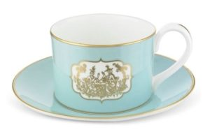 Fortnum & Mason Teacup and Saucer for afternoon tea in London.