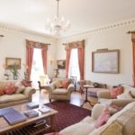 The Elegant Drawing Room at Pentillie Castle
