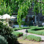The beautiful gardens at the Royal Crescent Hotel & Spa