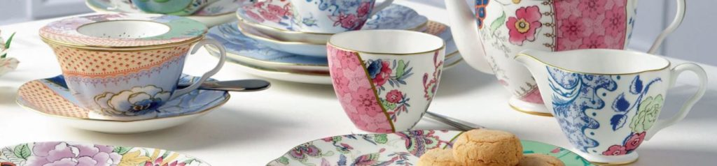 The Butterfly Bloom teacup and saucer collection from Wedgwood