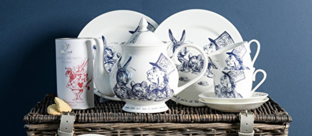 alice in Wonderland teacup and saucer collection from Whittard